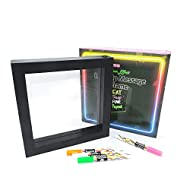 The Glowhouse Premium Light Up LED Neon Message Frame Memo Board Including 4 Neon Pens