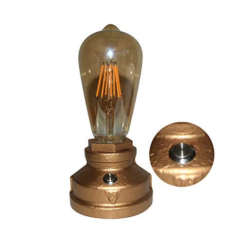 LIKE99 Lampara Mesilla de Noche Lámpara de Mesa,Luz Nocturna LED Clásica Retro para Dormitorio,Lámpara de Ambiente de Jardín de Mesa al Aire Libre,Lámpara de Mesa de Decoración Interiores