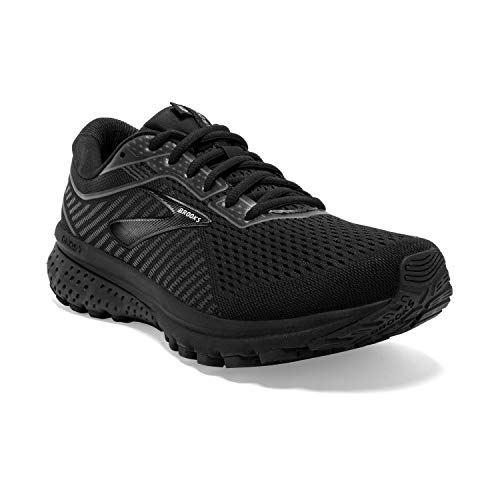 Brooks Womens Ghost 12 Running Shoe - Black/Grey - B - 7.5
