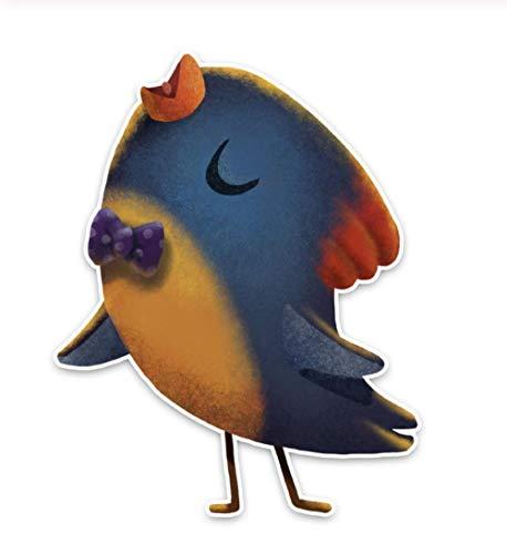 Samorou@ Tier Auto Aufkleber Beste Papagei Singen Lied Zubehör Autoscooter Fenster Aufkleber Sonnencreme Wasserdicht 11,4 cm X 14,6 cm