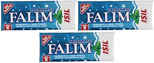 Falim Suikerloze Plain Gum met Carbonaat en mint aromatisch, 20 Pack, 100 stuks per stuk van Falim