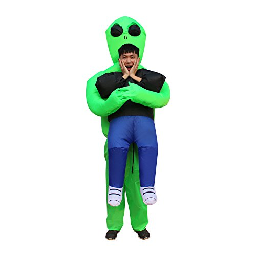 BLOWOUT FUN Inflatable Funny Allien Fancy Adult Inflatable Clothing Halloween Costume Fantasy Costume Riding Costume