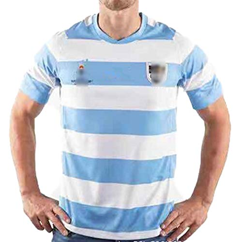 EWDS Herren Rugby Uniform, Argentinien Rugby Uniform 2019 WM Heimtrikot, Sommer Trikot Rugby Uniform Top Basketball Uniform S-3XL, pünktliche Lieferung-L