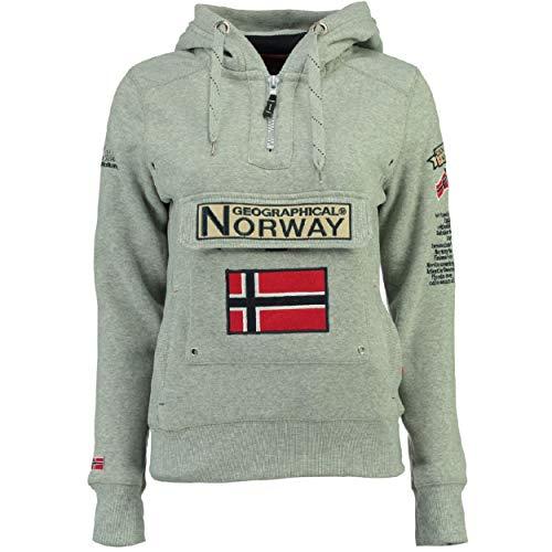 Geographical Norway Sudadera GYMCLASS DE Mujer Gris Melange Talla M