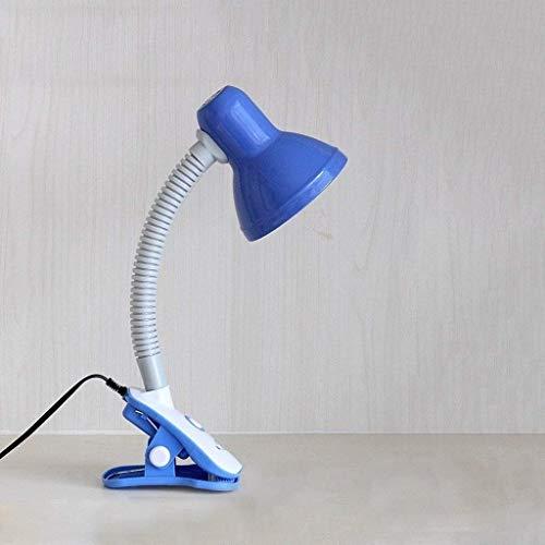 L.W.S Lámpara de escritorio Lámpara * Lámpara de escritorio para estudiantes, lámpara de cama de dormitorio de escritorio, lámpara de lectura para niños, lámparas de escritorio clip, 42 * 13cm (Color: