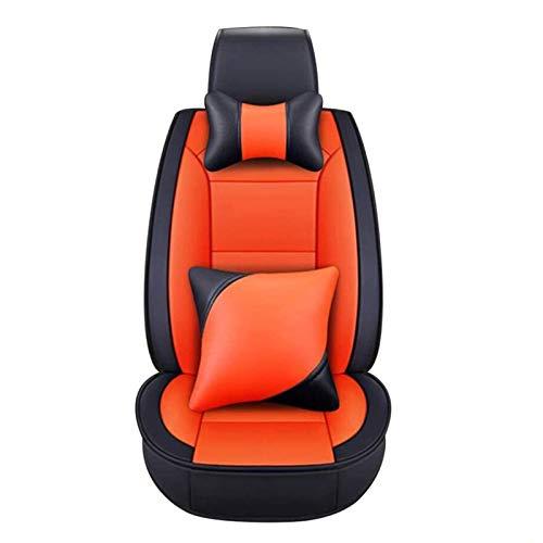 WFSH Cubierta de Asiento de Autos de Moda Compatible con Chevrolet: Cruze, Aveo, Epica, Captiva, Malibu, Camero, Vela, Lova (Color : Orange, Size : Epica)