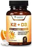 Vitamin K2 (MK7) with D3 Supplement - Highest Potency Vitamin D & K