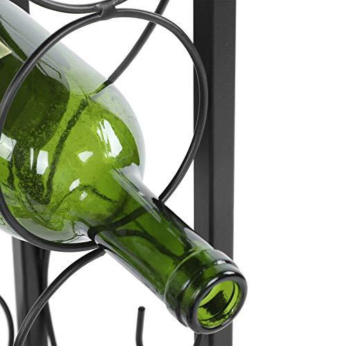 EBTOOLS Almacenamiento de Botellas de Vino, Soporte para Vino de pie, Estante para Vino de Hierro Forjado para 15 Botellas para Bar, Bodega, Cocina, sótano, 15.9 x 13 x 29.1in