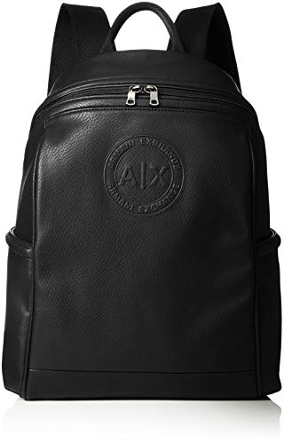 Armani Exchange - Backpacks, Mochilas Hombre, Negro (Nero), 41.0x14.0x27.5 cm (B x...