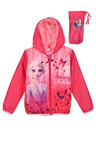 Disney Eiskönigin 2 Regenjacke Mädchen Jacke (Fuchsia, 104)