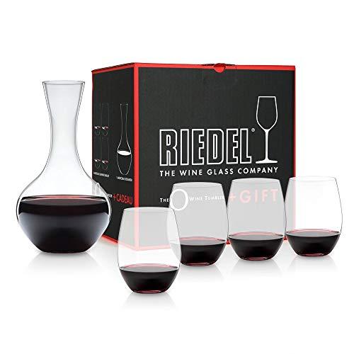 RIEDEL, Set Decanter + Bicchieri da Vino, 5 pz.