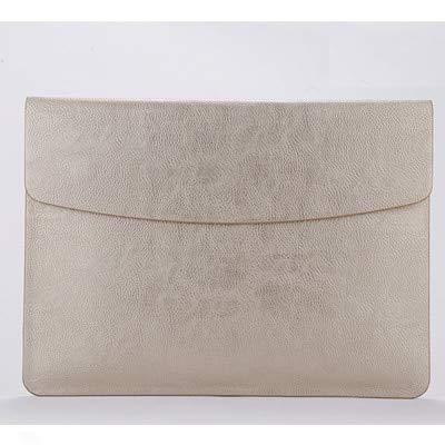 XXIUYHU Leder Laptop Hülle Tasche für MacBook Retina 11 12 15 Mac Book Air 13 Notebook Hülle für Xiaomi 13.3 15.6 Surface Pro 4 5 Hülle für MacBook 12 Zoll Gold