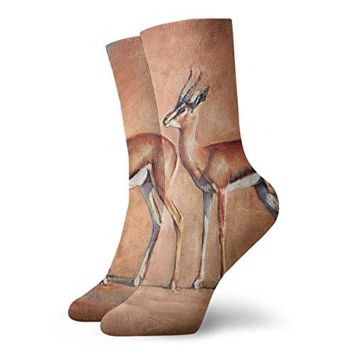 Calcetines de ciervo Gazelle Calcetines de vestir de fútbol atlético para hombres y mujeres Calcetines coloridos