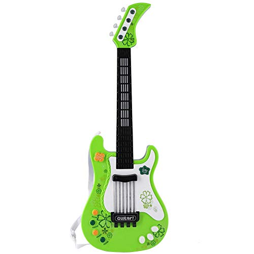 VGEBY1 Kindergitarren Spielzeug, musikalisches Spielspielzeug pädagogisches Reim-Ton-Spielzeug Melodien für Kinder Kleinkinder(Grün)