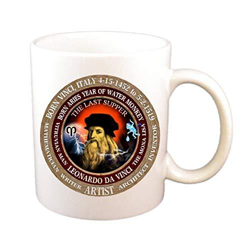 N\A Leonardo Da Vinci Artist Cup, Astrología Aries Zodíaco Mono de Agua