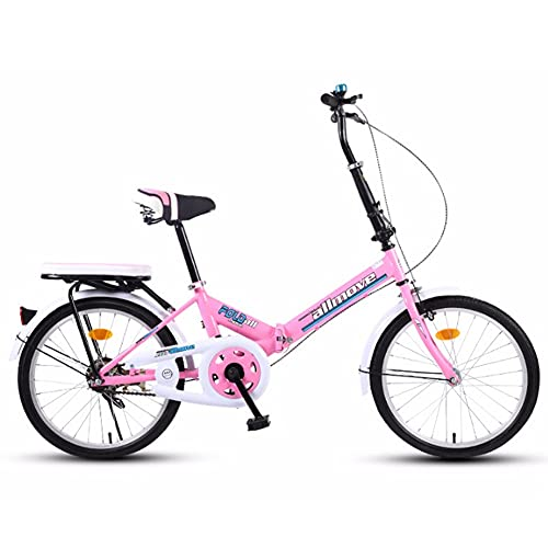 Folding Bike for Adults, Lightweight Mountain Bikes Bicycles Strong Alloy Frame with Disc Brake, 20 inch Single Speed, Ultra-Light Portable Bicycle/D / 16inch
