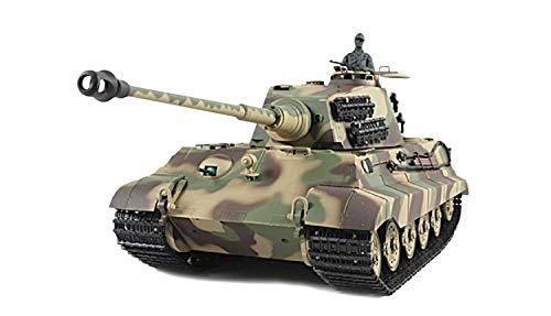 Amewi 1:16 RC Panzer Königstiger Henschel Turm, R&S 2,4 GHz, Metallgetriebe QC