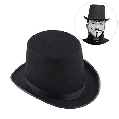 Gutyan Cappello A Cilindro, Cappello da Feltro Tradizionale in Mago Cappelli Magici Cappelli Forniture per Costumi da Festa in Costume di Halloween