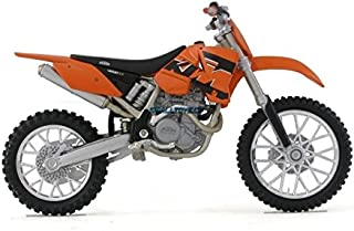 Welly Die Cast Motorcycle Orange KTM 450 SX Racing, 1:18 Scale