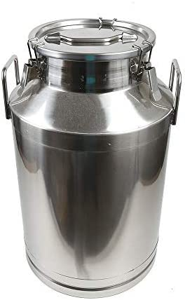 60L shop Stainless Steel Farm Milk Can Tot Bucket Department store Pail Dairy Pot Wine
