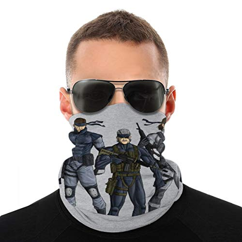 NBUQSG Metal Gear Solid Snake Revolution Variety Head Scarf Face Mask Magic Headwear Neck Gaiter Face Bandana Scarf