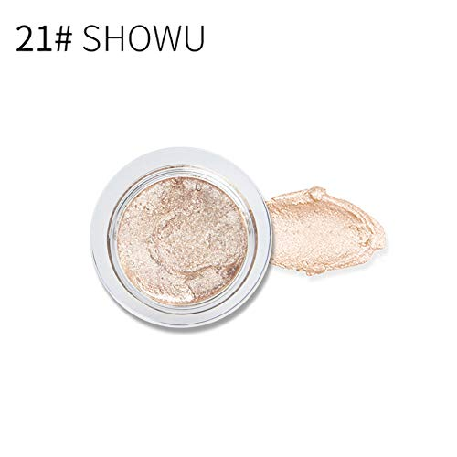 Homeofying 25 Colores de Purpurina para Sombra de Ojos Gel iluminador humectante Maquillaje cosmético para Principiantes