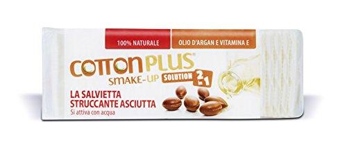 Cotton Plus SMAKE-UP ARGAN MINI 60 pz.   STRUCCANTE NATURALE! Salviette struccanti asciutte brevettate, senza conservanti, 100% naturali!