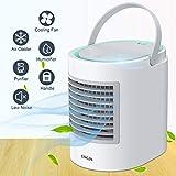 Portable Air Conditioner, Personal Mini Air Cooler, Quiet USB Desk Evaporative Air Cooler Fan with 7...
