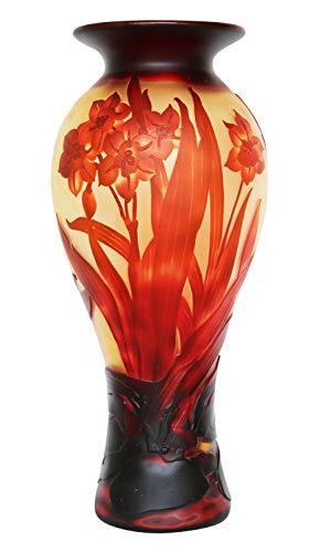 aubaho Vase Replika nach Galle Gallé Glasvase Glas Antik-Jugendstil-Stil Kopie h