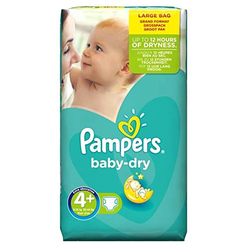 Couches Pampers - Taille 4+ baby dry - 80 couches bébé