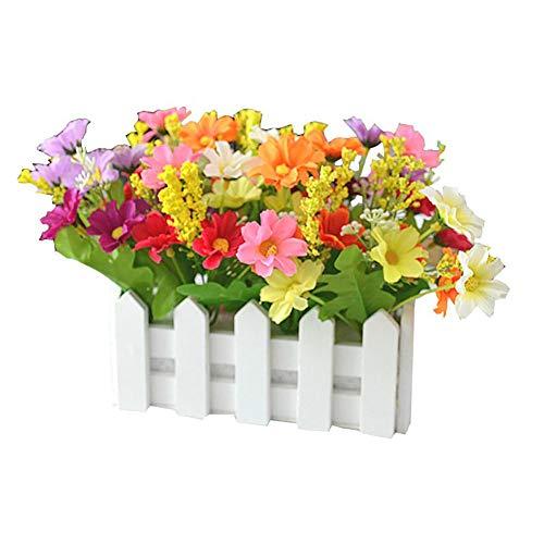 Vi.yo 1 Pcs Flores Artificiales Decorativas Planta en Maceta Falso Bonsai Verdor Simulacion Arbol con Cerca 16cm*8.5cm*17cm, 5
