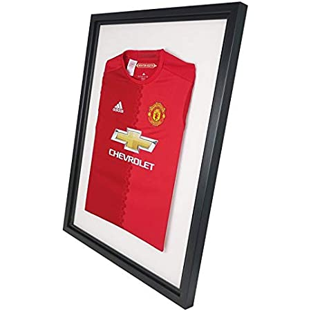 Vivarti DIY adulto deportes camisa pantalla marco 60x80cm - marco negro, interior negro, montaje blanco
