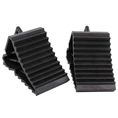 None - Cuñas para coche (goma, 2 unidades), color negro