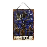マントン(7)木製のリストプラーク木の看板ぶら下げ木製絵画パーソナライズされた広告ヴィンテージウォールサイン装飾ポスターアートサイン