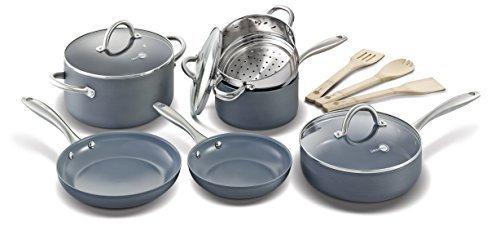GreenPan 12 stuk Lima Hard geanodiseerd Nonstick keramische kookgerei Set door The Cookware Company