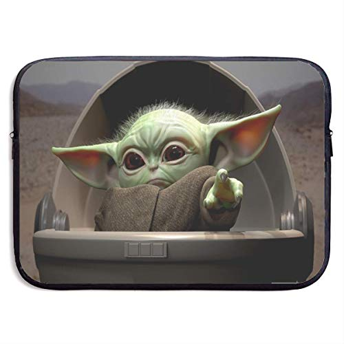 Fashion Baby yoda Laptop Sleeve Bag Tablet Briefcase Ultraportable Protective Cover Neoprene for MacBook Pro/MacBook Air/Notebook Computer 13 inch Black