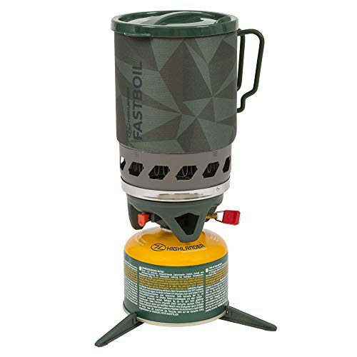 Highlander Blade Fastboil Camping Stove Mk3 Compact Portable Burner with 1.1L Pot – Ideal for Campers, Hiking and Fishing (Olive)