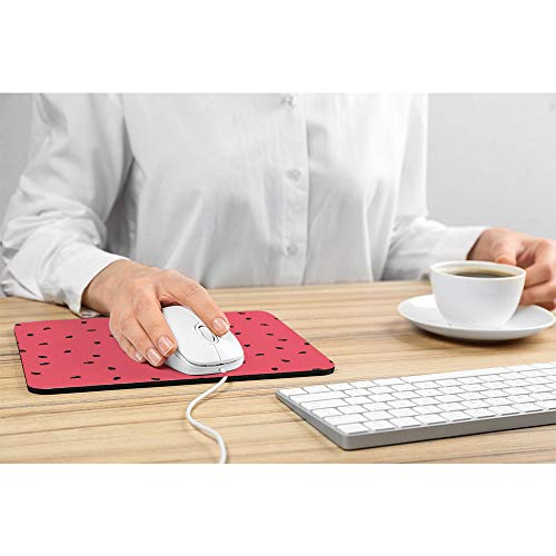 Wozukia Watermelon Slices Mouse Pad with Black Seeds Summer Sweet Fruit Red Gaming Mouse Mat Non-Slip Rubber Base Thick Mousepad Personalized Design Mouse Pad for Laptop Computer PC 9.5x7.9 Inch Photo #3