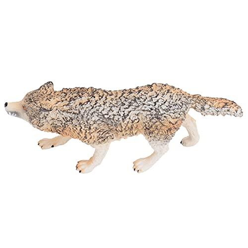 Modelo de lobo, modelo de lobo, brinquedo realista para acessórios de fotografia para decoração de escritório doméstico estatueta