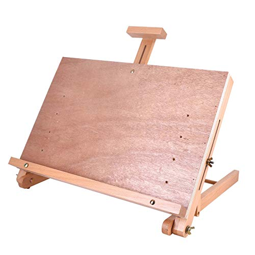 Vencer Large Adjustable Wood Artist Drawing & Sketching Easel Board