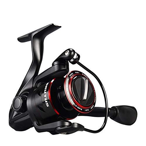 QFWM Spin ReelsSuper Light Spinning Carrete de Pesca Max Drag 5.0:1 Relación de Engranaje de Agua Dulce Carpa Pesca de Pesca