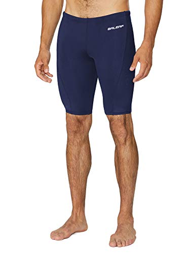 BALEAF Men's Athletic Durable Training Polyester Jammer Swimsuit Navy 34