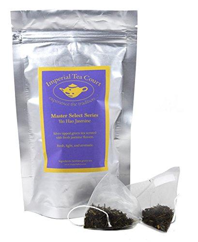 Yin Hao Jasmine Tea -- full leaf pyramid tea bags, 20 count