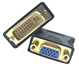 Traodin DVI to VGA Adapter, 1Pcs DVI-I 24+5 Male to VGA HD15 Female Adapter Converter 1080P with Gold Plated