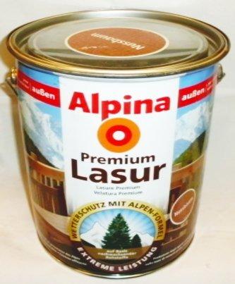 ALPINA Premium Lasur, 4 L. Holz Dickschichtlasur außen, Teak