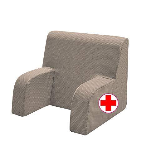 GEEMMA s.r.l. Sillón de noche con respaldo ortopédico o sillón sanitario con tejido desenfundable y lavable. Sillón de cama para ancianos o lactancia.