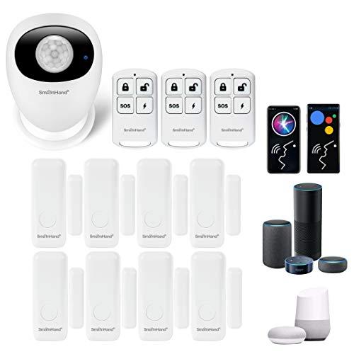 Home Security Alarm System for Home Alarm System Wireless, Smart Home Security System Wireless Compatible Alexa Google Home, House Alarm System Apartment Window Door Alarm Sensor,2.4G WiFi(no 5G WiFi)