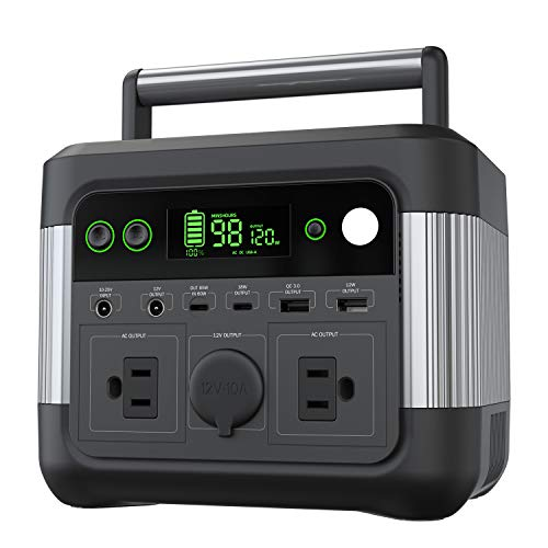 Portable Power Station 300W, 80000mAh 296Wh Battery Backup Portable Generator, 120W Max Input, PD 60W, Electric Solar Generator Outage Emergency Power Supply for Home Outdoors CPAP, Camping Travel