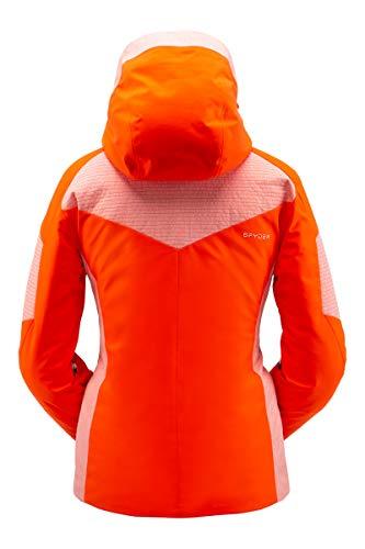 Spyder Damen Schatzi Gore-Tex Infinium Skijacke - Damen Full Zip Hooded Wintermantel, Damen, Schatzi Gore-tex Infinium Ski Jacket, Sizzle, 10