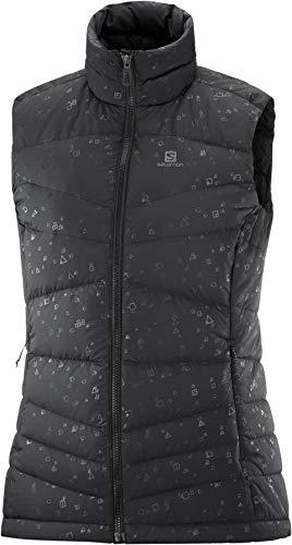 SALOMON Transition Down Vest W Chaleco, Mujer, Black/ao, XL